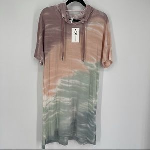 Cable and Gauge Tie-dye hoodie dress